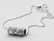 Hebrew seven blessings silver necklace
