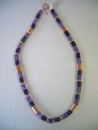 Israeli amethyst silver necklace