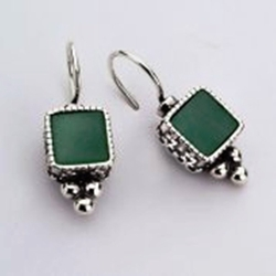 Israeli dangling sterling silver earrings
