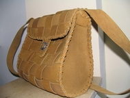 Israeli designer leather handbag