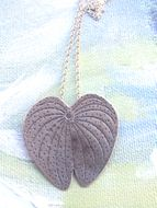 Sterling silver leaf pendant on a silver chain