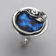 Israeli Mother of pearl Silver Ring