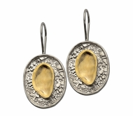 Israeli jewelry | 925 SILVER & 9K GOLD EARRING