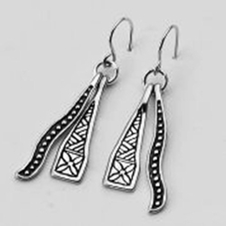 Israeli jewelry BOHO silver earrings