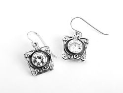 Sterling Silver earrings with cz zircon