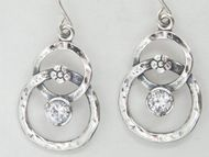 Israeli jewelry cz silver earrings