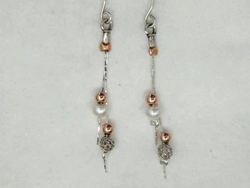 Israeli jewelry dangle silver earrings