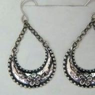 Israeli Jewelry | dangle silver earrings