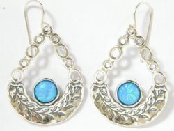 Israeli dangling earrings sterling silver