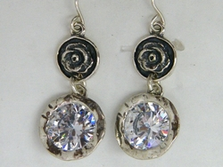 Israeli jewelry dangling earrings swarovski