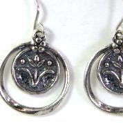 Israeli jewelry dangling silver earrings