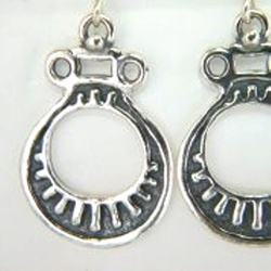 Israeli jewelry earrings | naif drawing | silver earrings