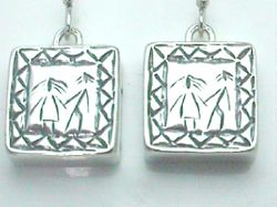 Israeli jewelry sterling silver earrings