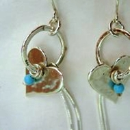 Israeli jewelry Heart Earrings