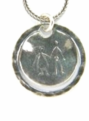 Israeli jewelry Naif drawing necklace