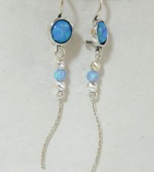 Israeli jewelry |opal earrings