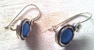 Israeli jewelry opal earrings sterling silver earrings
