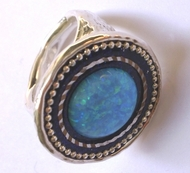 Israeli jewelry |rings | Blue opal silver ring