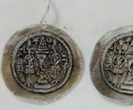 Israeli jewelry Roman coin designer earrings