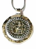 Israeli jewelry Roman coin necklace