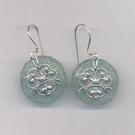 Israeli jewelry roman glass earrings