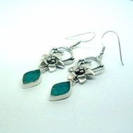 Israeli jewelry |roman glass earrings