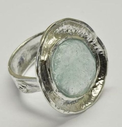 Israeli jewelry roman glass ring