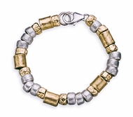Israeli jewelry Silver and goldfilled bracelet