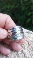 Unique silver gold jewelry from Israel: Israeli jewelry silver gold rings spinning bands