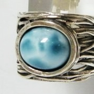 Israeli jewelry silver  ring labradorite or turquoise