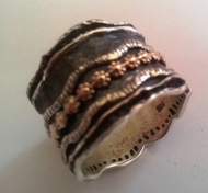 Israeli jewelry Spinner ring silver and gold / Spinning Rings