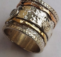 Unique silver gold jewelry from Israel Meditation Bands