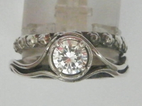 Israeli jewelry sterling silver cz ring
