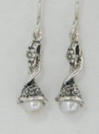 Israeli jewelry|sterling silver earrings | pearl earrings