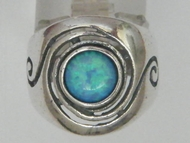 Israeli jewelry sterling silver opal ring