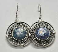 Roman glass jewelry dangle earrings