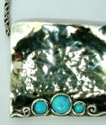 Israeli necklace silver opals