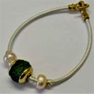 Israeli roman glass bracelet sterling silver gold plated