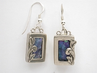 Israeli roman glass earrings