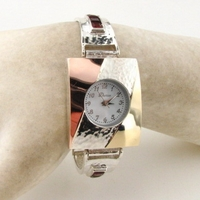 Israeli silver and gold watch