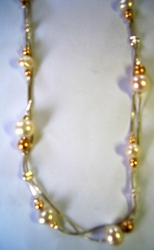 Israeli silver and pearls necklace