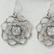 Israeli Silver Earrings | designer earrings | dangle zircon earrings