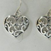 Israeli silver earrings |heart earrings |heart jewelry