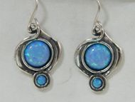 Israeli silver earrings | opal earrings |dangle earrings