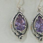 Israeli silver earrings zircon