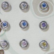 Israeli silver earrings zircons or gemstones