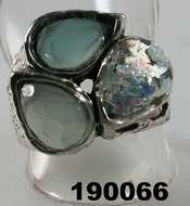 Israeli silver ring roman glass jewellery