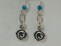 Israeli silver turquoise  earrings