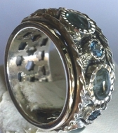 Israeli spinner ring gemstones