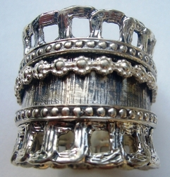 Israeli sterling silver spinner ring artistic collection